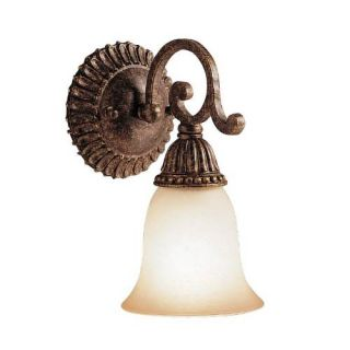 Kichler 5214TZG Transitional Wall Sconce 1 Light Fixture Tannery Bronze w/ Gold Accent