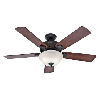 Hunter Pros Best Five Minute 52 in. Indoor Ceiling Fan with Light   53249