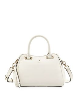 charles street mini audrey satchel bag, cream   kate spade new york