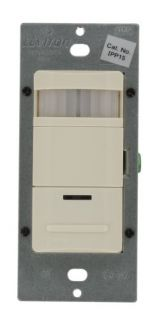 Leviton IPP151LT Motion Sensor, Decora ManualOn Occupancy Sensor Wall Switch, 1800W Light Almond