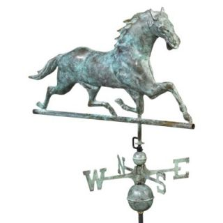 Good Directions Horse Weathervane   Blue Verde Copper