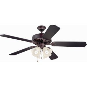 Ellington Fans ELF E204OB Pro 204 52 Ceiling Fan Motor only with Integrated Lig