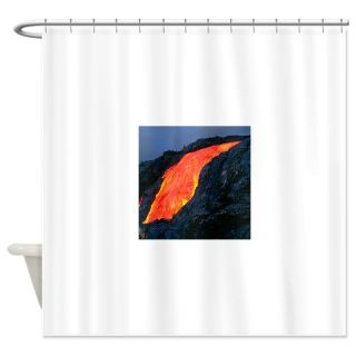 Lava flow from Kilauea volcano Shower Curtain  Use code FREECART at Checkout