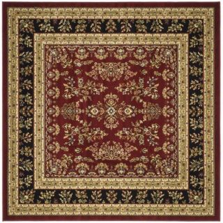 Lyndhurst Collection Red/ Black Rug (6 Square)