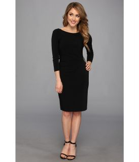 Tahari by ASL Leslie L Matte Jersey Dress Womens Dress (Black)