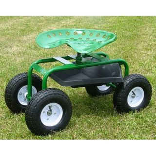 Mid West Garden Caddy Tractor Seat on Wheels Multicolor   GC 400R