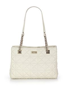 Kate Spade New York Sedgwick Place Small Phoebe Quilted Tote   Cream