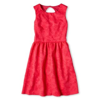 Disorderly Kids Embossed Scuba Knit Dress   Girls 6 16 and Plus, Pink, Girls