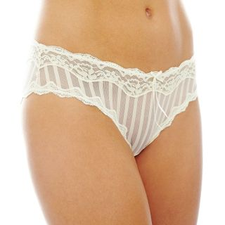 THE BODY Elle Macpherson Intimates Lace and Mesh Bikini Panties, Slvr Peony