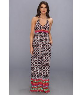 Trina Turk Venice Beach Long Dress Womens Dress (Brown)