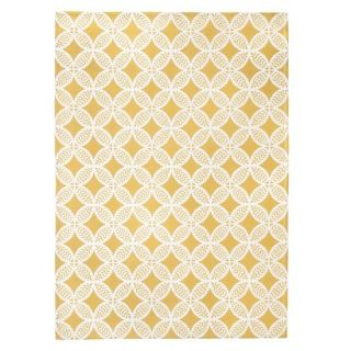 Threshold Indoor/Outdoor Area Rug   Yellow (5x7)