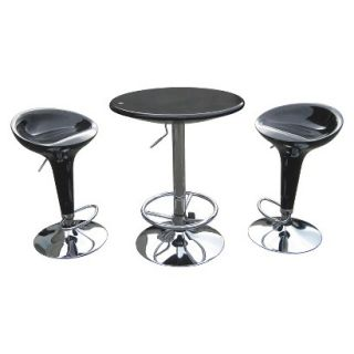 Pub Set Boraam Industries Luna Pub Table   Black (Set of 3)