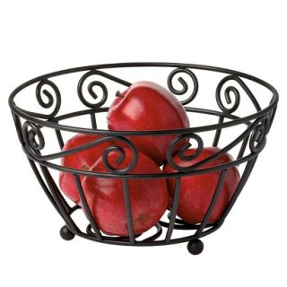 Spectrum Scroll Fruit Bowl   Black (10)