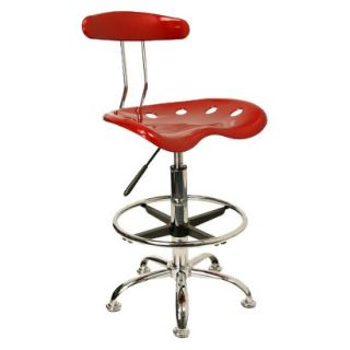 Drafting Stool Tractor Seat Drafting Stool   Red