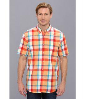 Nautica S/S Slub Poplin Large Plaid Shirt Mens Short Sleeve Button Up (Multi)
