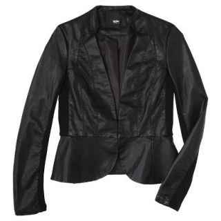Mossimo Womens Faux Leather Motorcycle Jacket  Black M