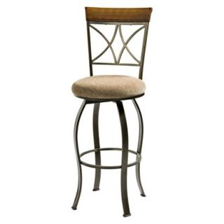 Barstool Powell Hamilton Dining Swivel Barstool   Brown