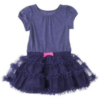 Cherokee Infant Toddler Girls Tutu Dress   Nightfall Blue 12 M