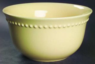 Pottery Barn Emma Yellow Coupe Cereal Bowl, Fine China Dinnerware   All Yellow,B