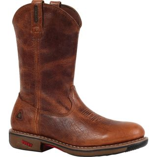 Rocky Ride 11In. Waterproof Western Boot   Palomino, Size 13 Wide, Model 4181