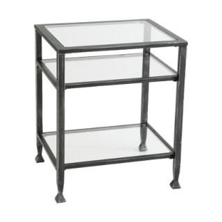 End Table Southern Enterprises Distressed Metal End Table   Black