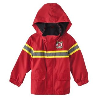 Just One You by Carters Infant Toddler Boys Fire Rescue Raincoat   Red 2T