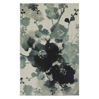 Mohawk Home Watercolor Floral Area Rug   Blue/Cream (8x10)