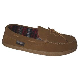 Mens Muk Luks Berber Suede Moccasin Slipper  Tan 10