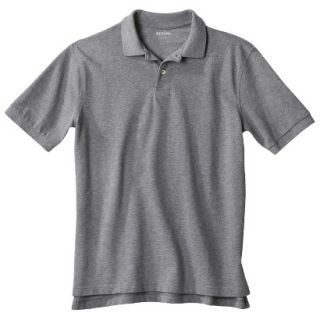 Mens Classic Fit Polo Shirt Heather Gray Grey S
