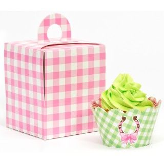 Pink Cowgirl Cupcake Wrapper Combo Kit