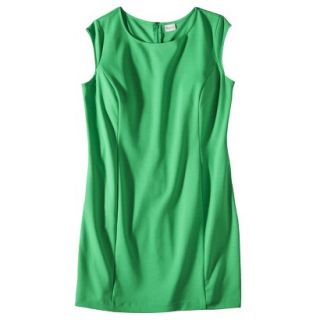 Merona Womens Plus Size Sleeveless Ponte Sheath Dress   Green 3