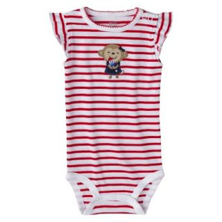 Just One YouMade by Carters Newborn Girls Striped Bodysuit   Red/White 12 M