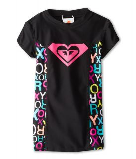 Roxy Kids Roxy Border S/S Rashguard Girls Swimwear (Black)