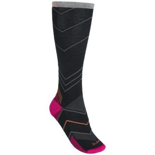 Sockwell Incline Socks   Merino Wool  Graduated Compression  Over the Calf (For Women)   BLACK (M/L )