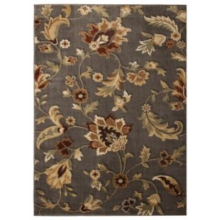 Threshold Jacobean Floral Area Rug   Mushroom (5x7)