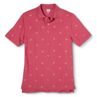 Mens Classic Fit Print Polo Shirt SS Pink S