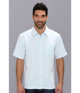 Quiksilver Waterman Centinela 2 S/S Shirt Mens Short Sleeve Button Up (Blue)