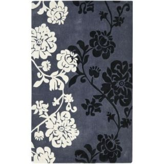 Safavieh Modern Art Area Rug   Dark Grey/Multi (4x6)