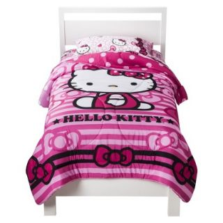 Sanrio Hello Kitty Bow Comforter   Twin