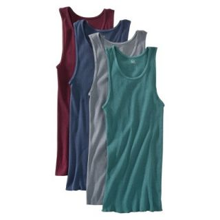 Fruit of the Loom Mens A Shirts 4 Pack   Assorted Colors M