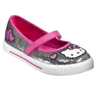 Girls Hello Kitty Sequin Mary Jane Shoes   Silver 5