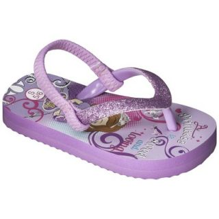 Toddler Girls Sofia The First Flip Flop Sandals   Purple S