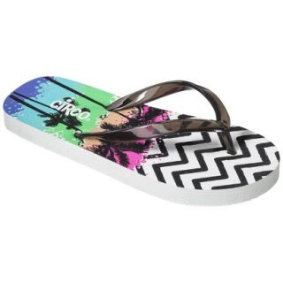 Girls Circo Hester Flip Flop Sandals   Black/White XL