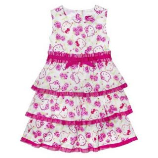 Hello Kitty Infant Toddler Girls Short Sleeve Tunic Dress w/ Mesh Skirt