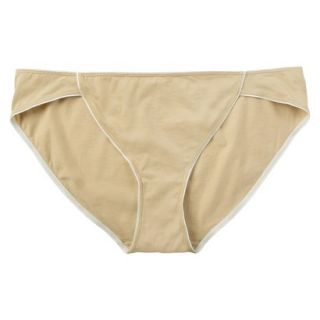 JKY By Jockey Womens Cotton Stretch Bikini   Toasted Beige 6
