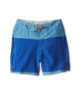 Volcom Kids Heather Stripe Boardshort Boys Swimwear (Blue)