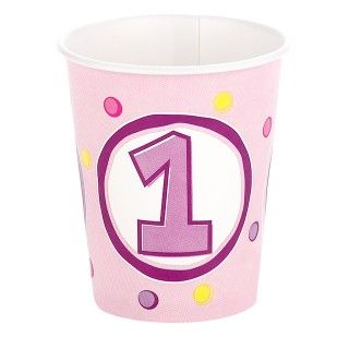 Girls Lil Cupcake 1st Birthday 9 oz. Cups