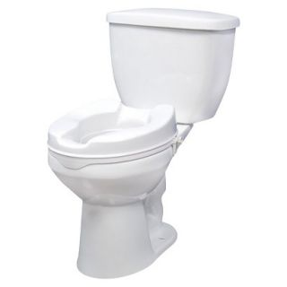 Drive Medical White Raised Toilet Seat with Lock   4
