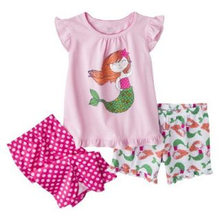 Just One You Made by Carters Infant Toddler Girls 3 Piece Mermaid Pajama Set