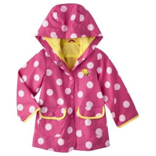 Just One You by Carters Infant Toddler Girls Polka Dot Raincoat   Pink 18 M